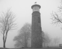 Asylum Point Lighthous in the Fog