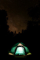 Tent with the night sky